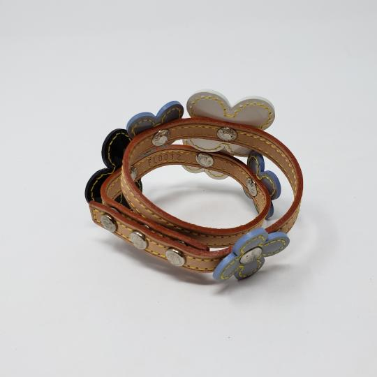 Louis Vuitton Silver-tone Louis Vuitton Vernis Fleurs Double Wrap bracelet Image 3