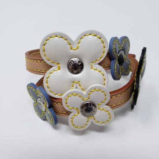 Louis Vuitton Silver-tone Louis Vuitton Vernis Fleurs Double Wrap bracelet Image 4