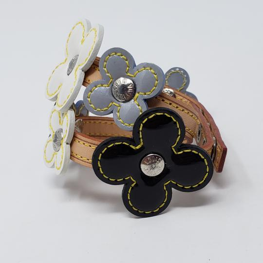 Louis Vuitton Silver-tone Louis Vuitton Vernis Fleurs Double Wrap bracelet Image 6