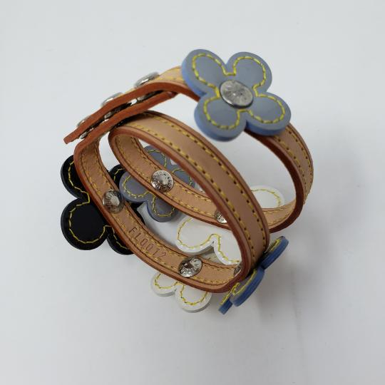 Louis Vuitton Silver-tone Louis Vuitton Vernis Fleurs Double Wrap bracelet Image 8