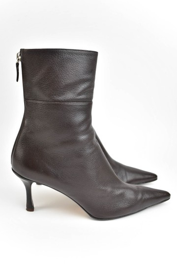 Gucci Leather Heels Dark Brown Boots Image 4