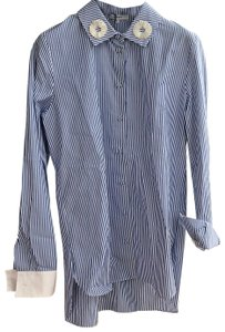 Carven Button Down Shirt Blue