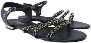Chanel Mules Rare Runway Logo black Sandals