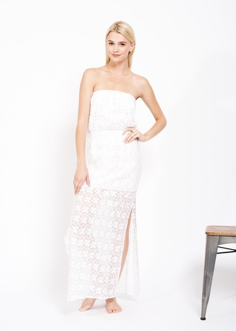 white Maxi Dress by Anthropologie Designer Ttcollection Image 2
