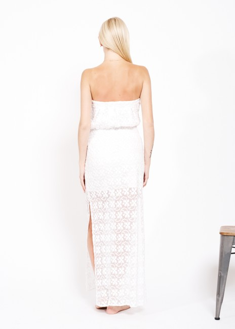 white Maxi Dress by Anthropologie Designer Ttcollection Image 3