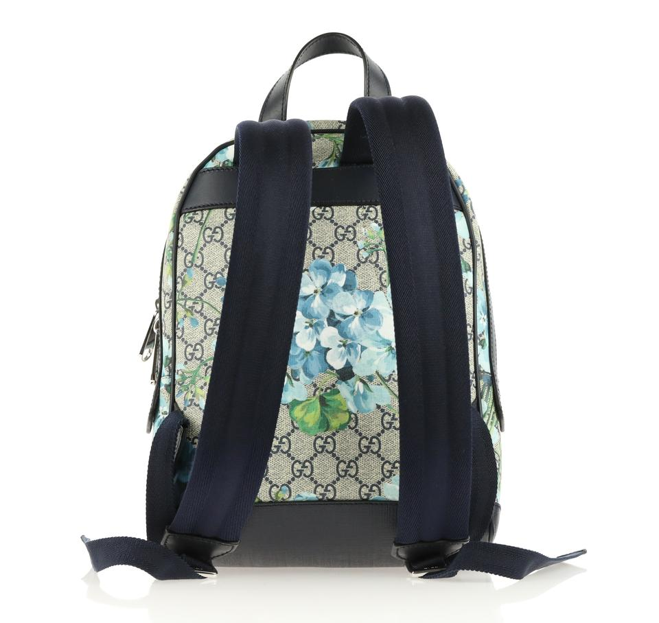 6079e79401e6 Gucci Small Gg Blooms Blue Coated Canvas Backpack - Tradesy