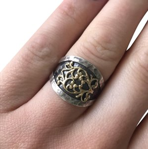 Mediterranean Artist Mediterranean Artist sterling silver and yellow gold ring size 6.5