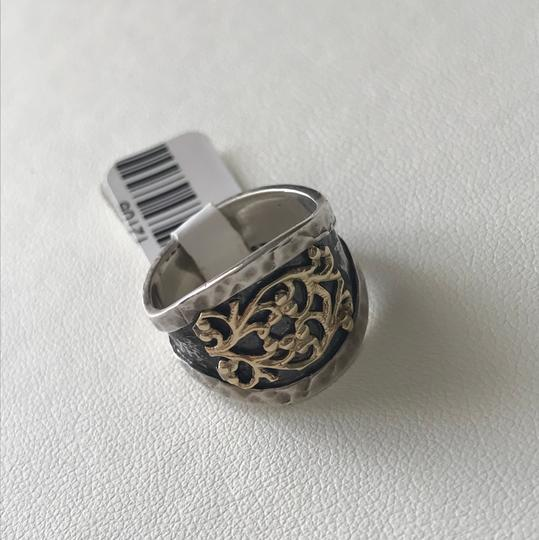 Mediterranean Artist Mediterranean Artist sterling silver and yellow gold ring size 6.5 Image 1