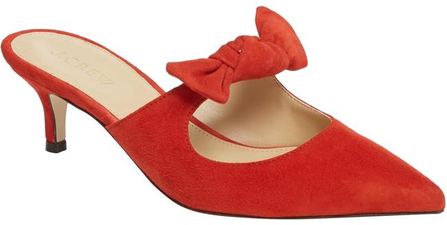 Item - Red W Sophia Point Toe Suede W/ Bow Mules/Slides Size US 6.5 Regular (M, B)