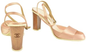 Chanel Leather Blush Pink Pumps