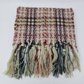 Burberry Creme multicolor Burberry London plaid patterned wool-blend scarf Image 8