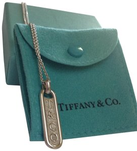 Tiffany & Co. T&Co Bar Tag Pendant Necklace