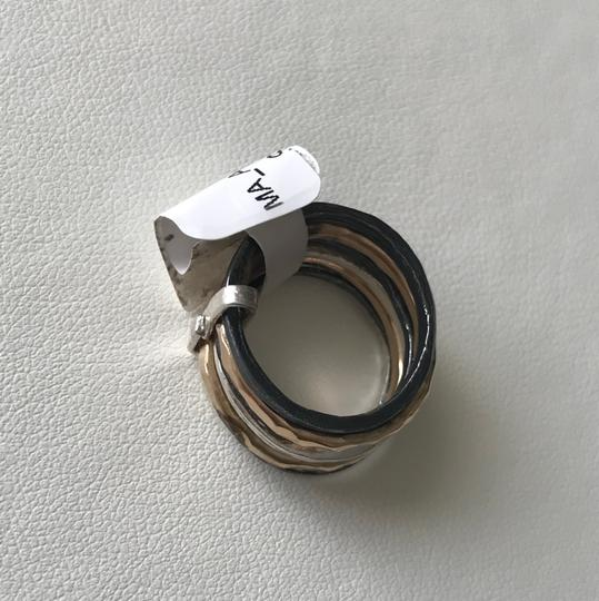 Mediterranean Artist Mediterranean Artist TriColor Sterling Silver Spinner Ring Size 5.5 Image 4