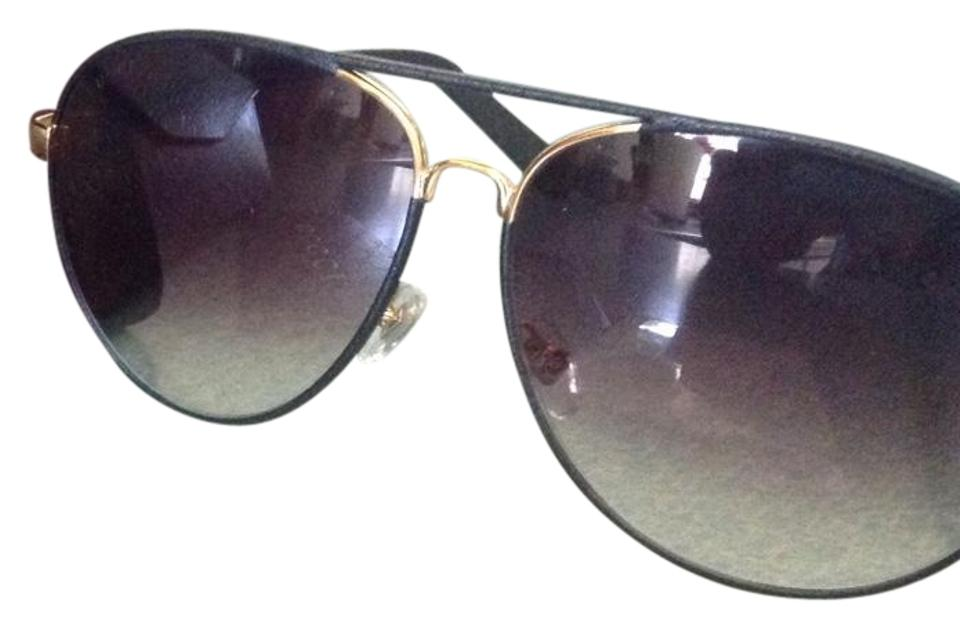 1549c47db8a5a Gucci Gucci gold black leather aviator sunglasses GG2887 s Image 0 ...