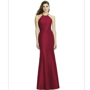 Dessy Burgundy Mikado 2996 Formal Bridesmaid/Mob Dress Size 10 (M)