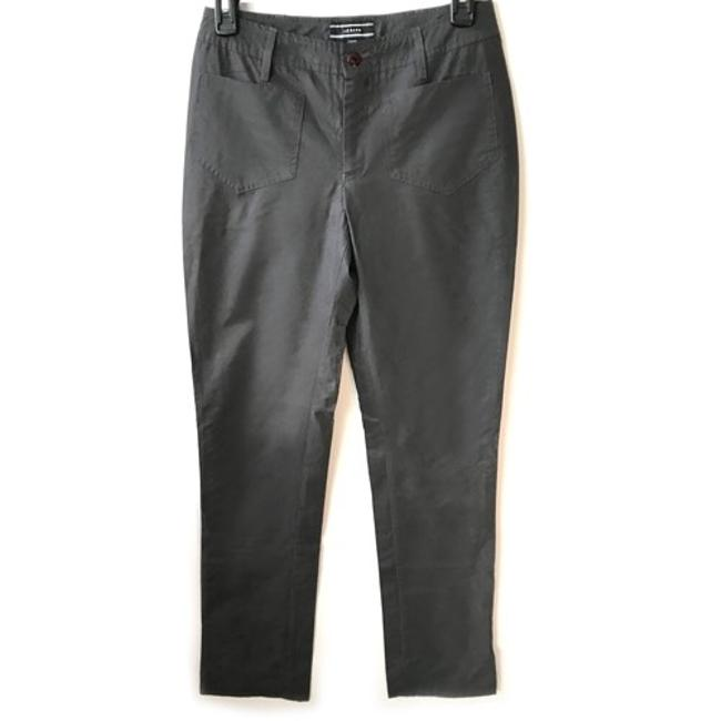 Joseph Glow Designer Stage Wear Shine Straight Pants Charcoal Reflective Material Image 0