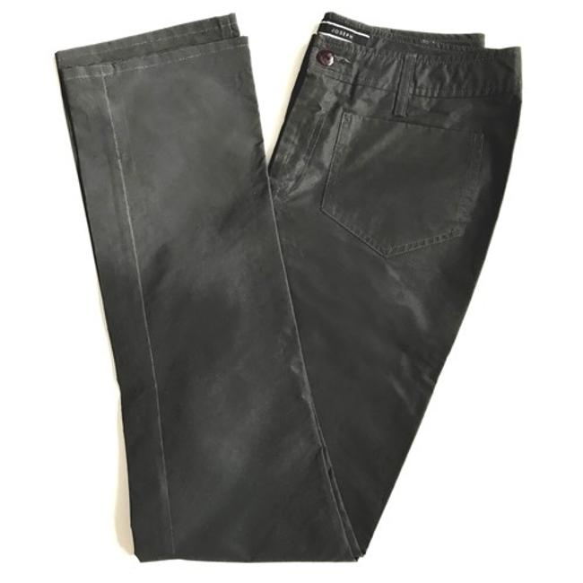 Joseph Glow Designer Stage Wear Shine Straight Pants Charcoal Reflective Material Image 1