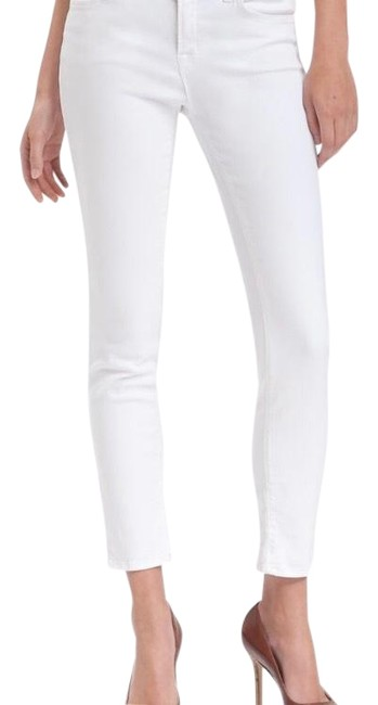 Item - White Light Wash Mid-rise Skinny Jeans Size 27 (4, S)