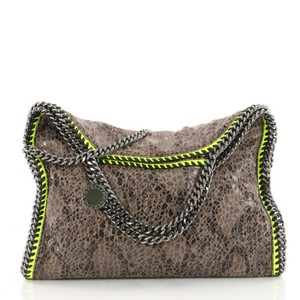 Stella McCartney Python Tote in brown