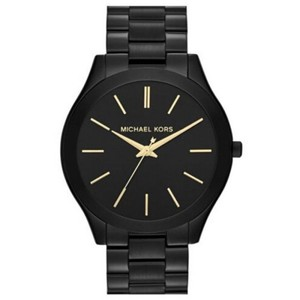 Michael Kors Michael Kors MK3221 Slim Runway Watch Black Stainless Steel Band Wrist