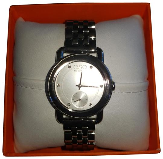 Preload https://img-static.tradesy.com/item/24020122/esq-movado-stainless-steel-braided-band-stainless-outside-face-pearl-white-face-with-crystal-accents-0-7-540-540.jpg