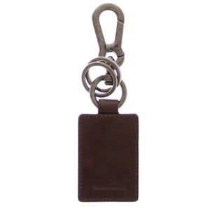 Dolce&Gabbana D10021 Unisex Leather Metal Ring Keychain