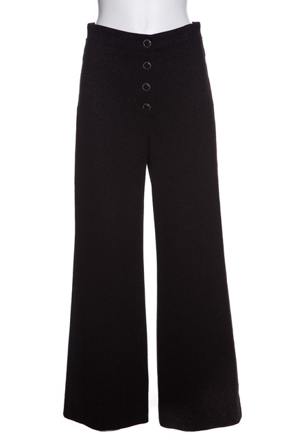 Chanel Wide Leg Pants Black & Metallic Image 0