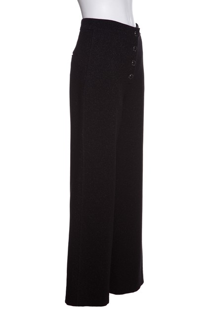 Chanel Wide Leg Pants Black & Metallic Image 1