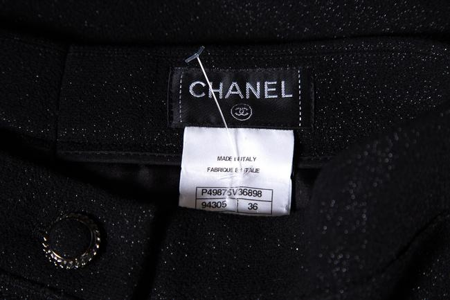 Chanel Wide Leg Pants Black & Metallic Image 5