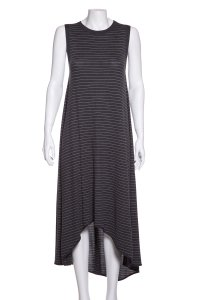 Charcoal & White Maxi Dress by Brunello Cucinelli