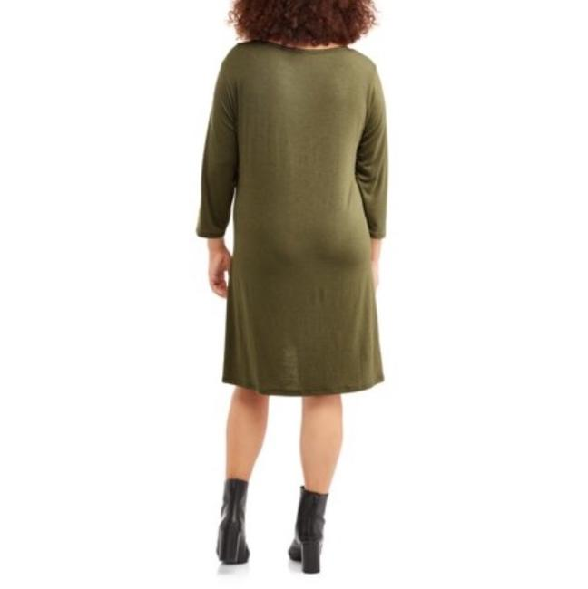 Poof! Apparel short dress Olive Green w/Black Lace on Tradesy Image 1