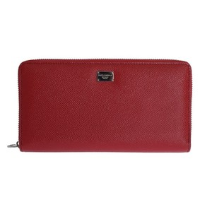 Dolce&Gabbana D50155 Women's Red Leather Dauphine Continental Wallet