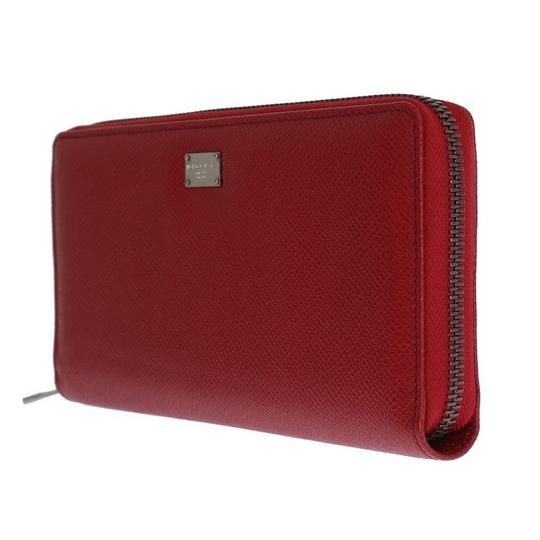 Dolce&Gabbana D50155 Women's Red Leather Dauphine Continental Wallet Image 1