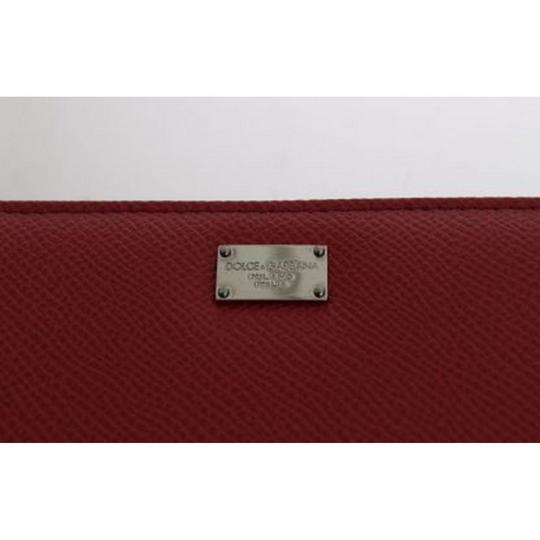 Dolce&Gabbana D50155 Women's Red Leather Dauphine Continental Wallet Image 3