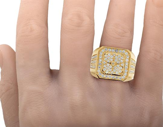 Jewelry Unlimited 10K Yellow Gold Real Diamond Pinky Men's Ring 1.5 CT 18MM Image 2