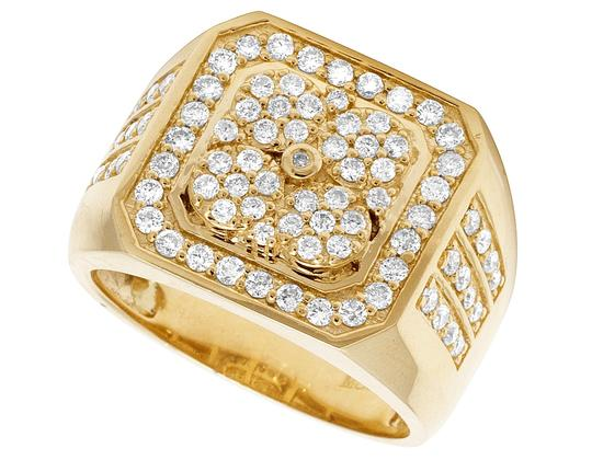 Jewelry Unlimited 10K Yellow Gold Real Diamond Pinky Men's Ring 1.5 CT 18MM Image 3