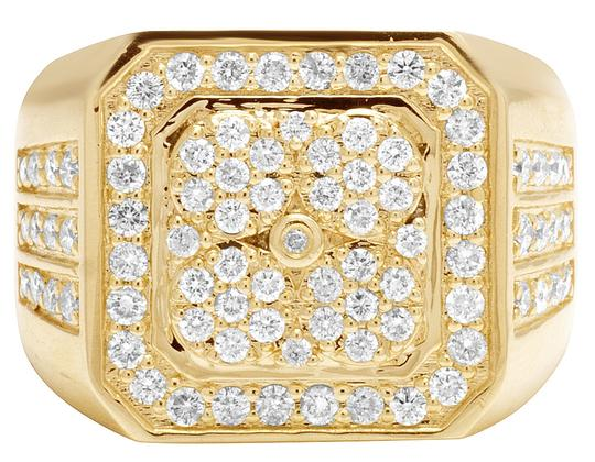 Jewelry Unlimited 10K Yellow Gold Real Diamond Pinky Men's Ring 1.5 CT 18MM Image 5