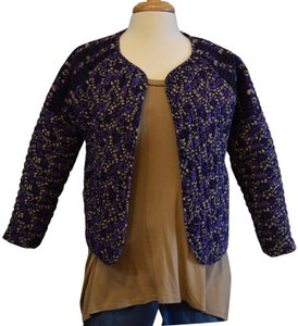 Ulla Johnson Quilted Floral Purple Jacket