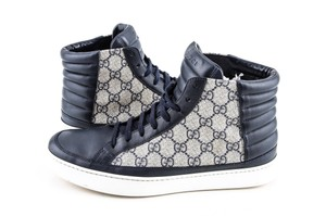 Gucci Blue Gg Supreme High-top Sneaker Shoes