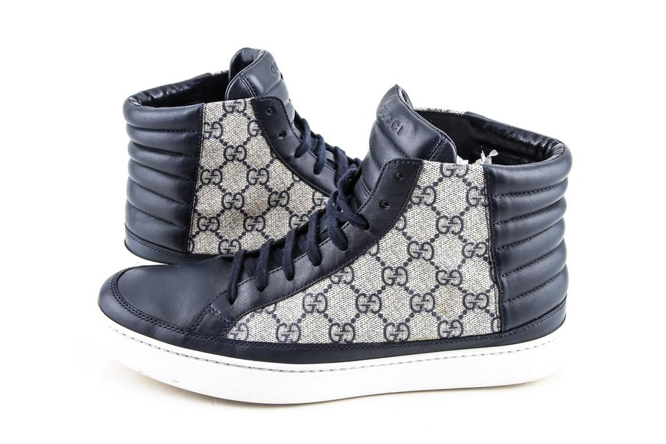 3107af5a60c Gucci Blue Gg Supreme High-top Sneaker Shoes Image 0 ...