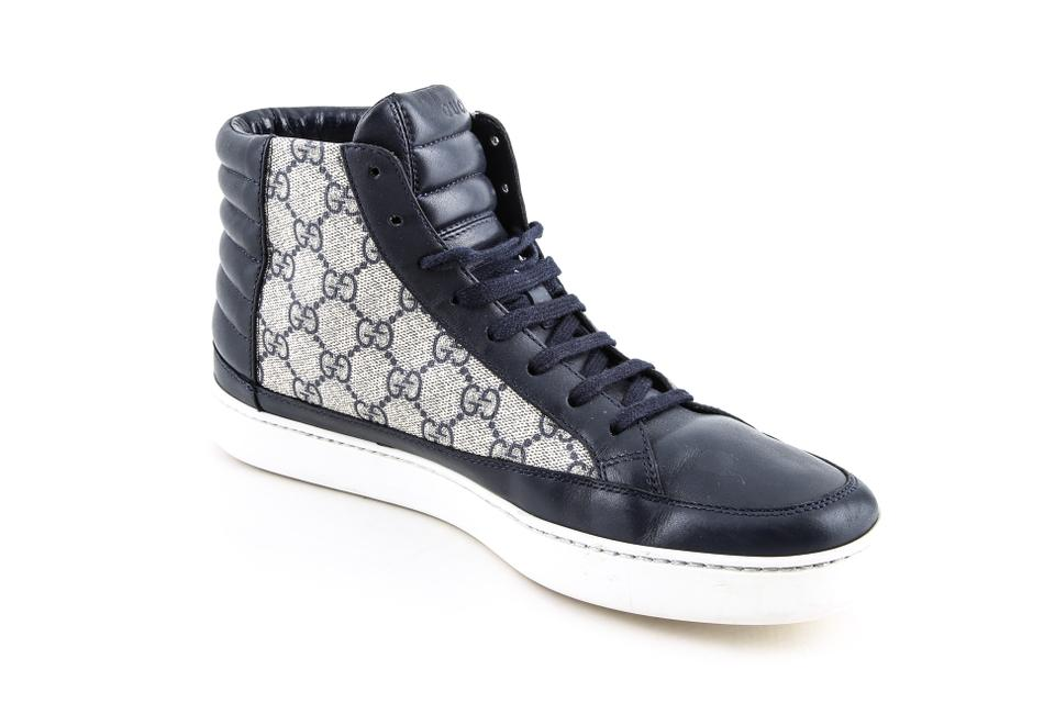 0b0ff15c22c Gucci Blue Gg Supreme High-top Sneaker Shoes Image 11. 123456789101112