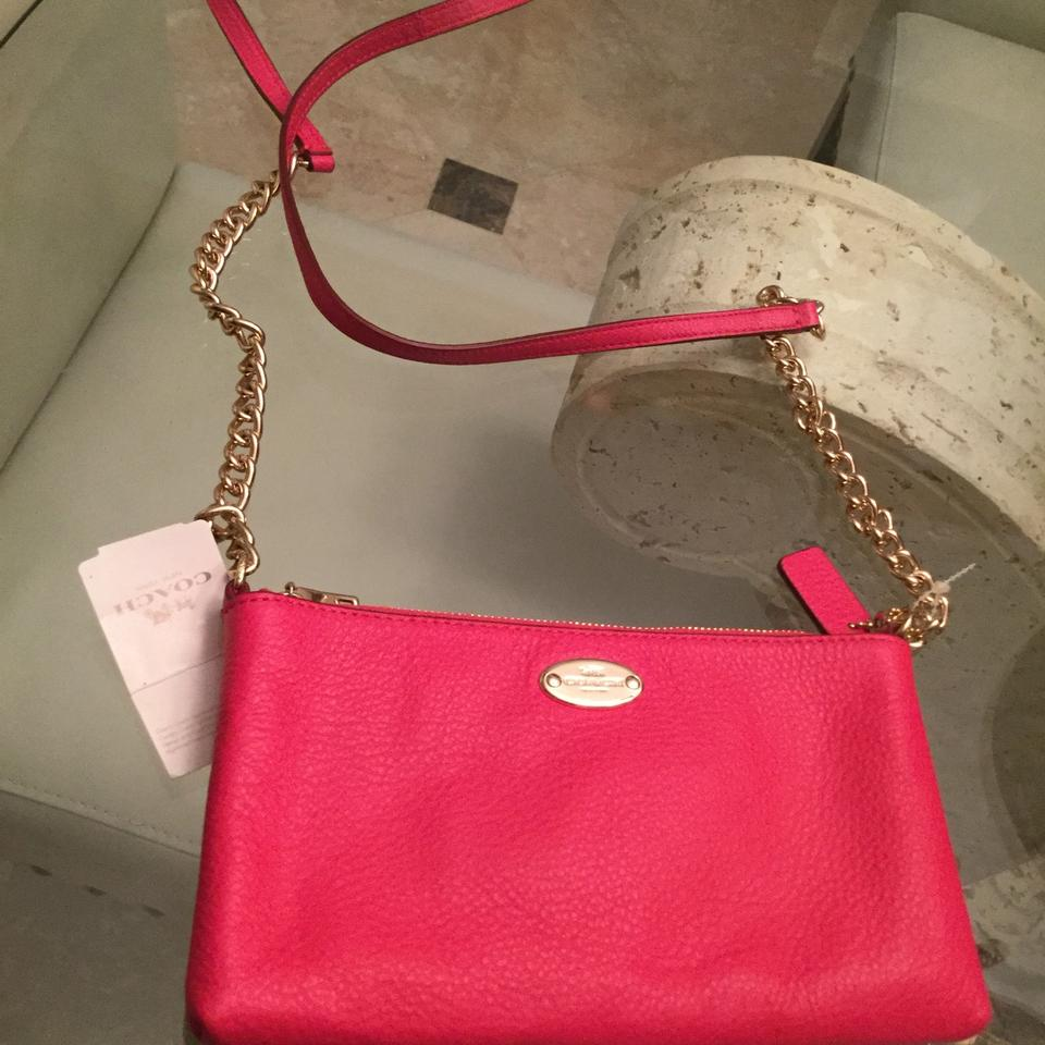 392f1738538 Coach Gold Accents Chain Strap Pink Leather Cross Body Bag - Tradesy