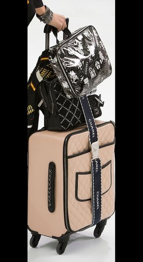 Chanel O-case Vanity Make-up Black and White Clutch Image 10