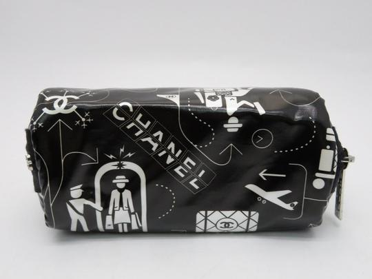Chanel O-case Vanity Make-up Black and White Clutch Image 3