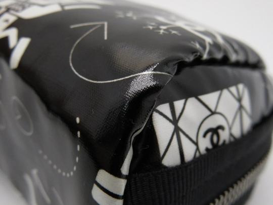 Chanel O-case Vanity Make-up Black and White Clutch Image 4