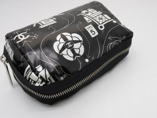 Chanel O-case Vanity Make-up Black and White Clutch Image 8