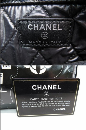Chanel O-case Vanity Make-up Black and White Clutch Image 9