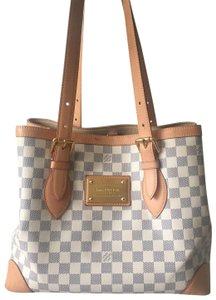 d103ffe3de92 Added to Shopping Bag. Louis Vuitton Shoulder Bag. Louis Vuitton Hampstead  Mm Damier Azur Canvas ...