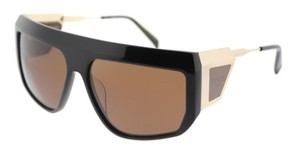 Balmain Balmain Sunglasses BL 8091 C01 Gold-Black / Brown Lens NEW!
