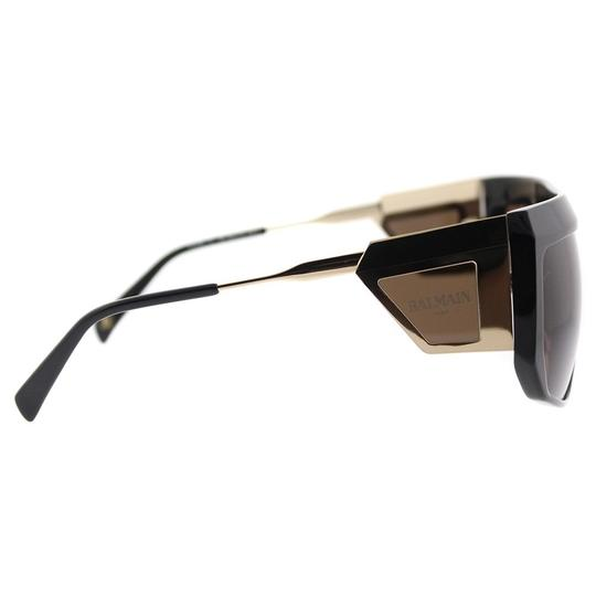Balmain Balmain Sunglasses BL 8091 C01 Gold-Black / Brown Lens NEW! Image 2